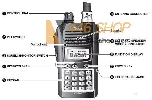 icom icom ic v85 136 174mhz handy radio 7 watts dtmf code fm rh 446shop com Icom IC 7610 Specs Icom IC- M412 VHF Marine Radio