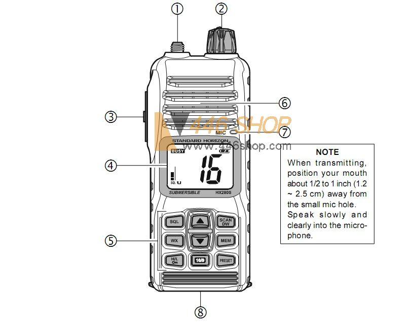 standard horizon hx280s submersible handheld vhf radio