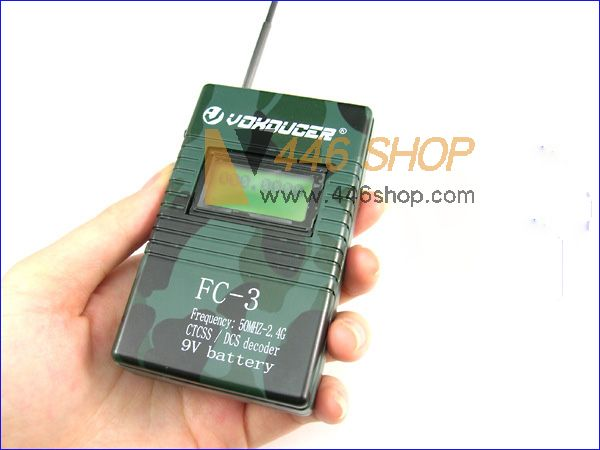 Sound Frequency Counter Handheld : Fc rk voxducer camouflage handheld frequency counter