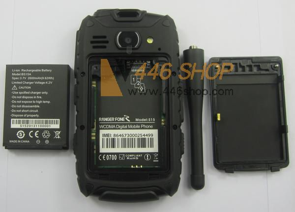 S15 Ptt Shockproof Rugged Android Smartphone Two Way Radio