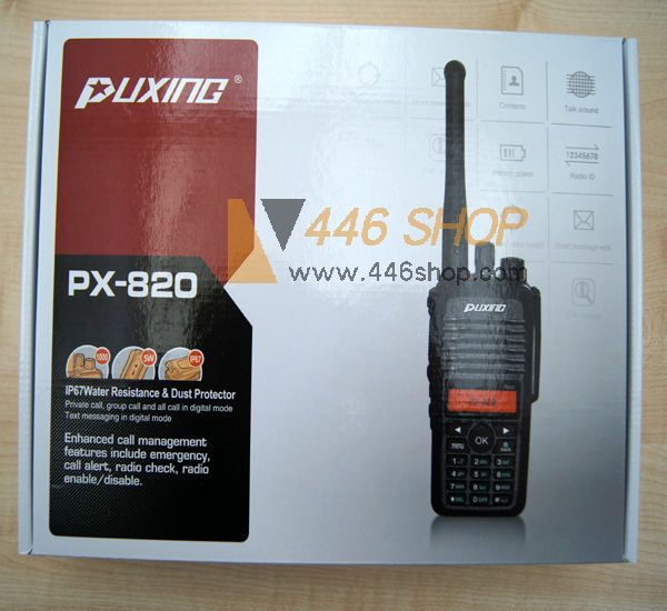 PUXING PUXING PX-820/PX-780 DMR Waterproof Encryption Digital Walkie