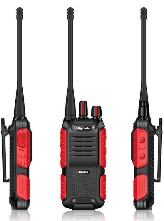 higrade hg 470 cheapest uhf two way radio range handheld high quality walkie talkie brand