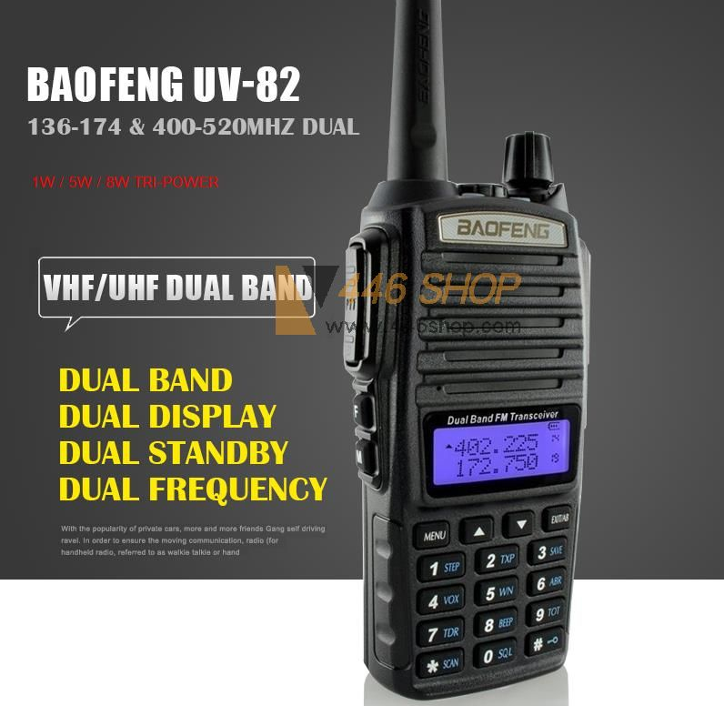 Baofeng Newest Uv 82 High Power 3 Power Levels 1w 5w 8w