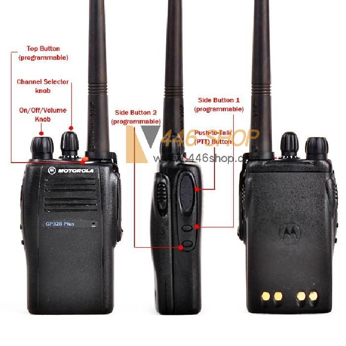 motorola motorola gp328 plus walkie talkie portable two way radio brand of radio motorola. Black Bedroom Furniture Sets. Home Design Ideas