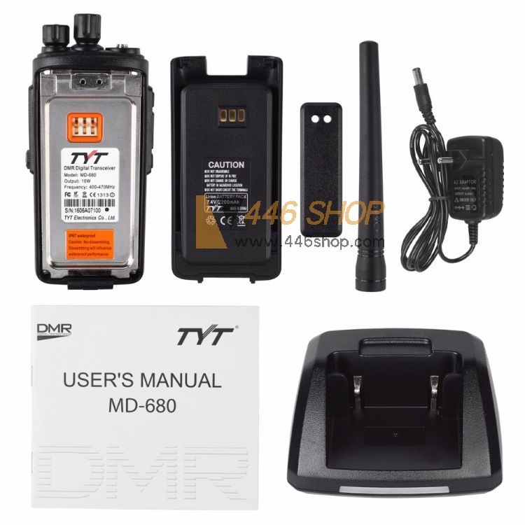 TYT TYT MD-680 DMR IP67 Waterproof Handheld Digital Walkie Talkie