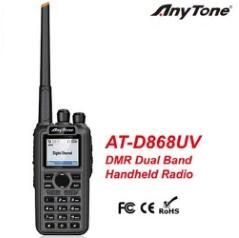 ANYTONE Anytone AT-D868UV DMR GPS Dual band Digital Two Way Radio