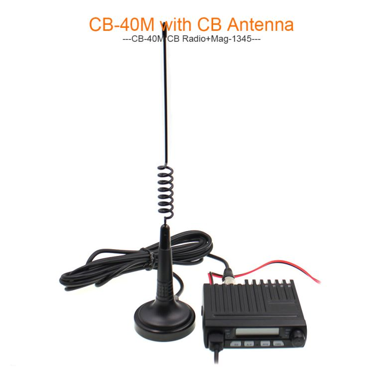Talinfone CB Radio Antenna with Magnet Base 26-28MHz Mag