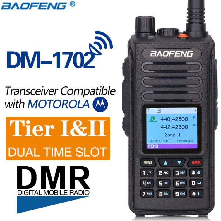 BAOFENG Baofeng DM-1701 Dual Band DMR Portable Digital Two Way Radio